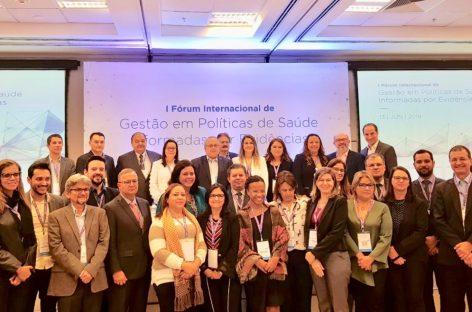 Secretária participa de Fórum Internacional de Saúde no Hospital Sírio-Libanês