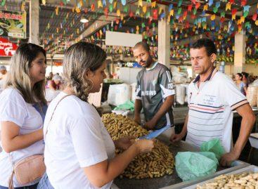 Prefeitura promove abordagem sobre trabalho infantil no mercado do Augusto Franco