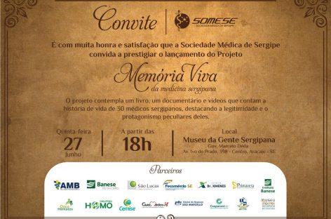 Projeto Memória Viva da Medicina Sergipana será lançado