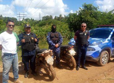 Guarda municipal de Rosário do Catete recupera duas motos prontas para o desmanche