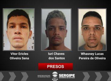 Polícia Civil prende trio responsável por vários roubos de veículos em Sergipe