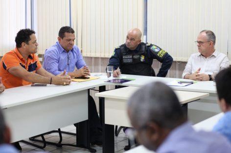 Capitão Samuel participa de reunião com Belivaldo para discutir posto imediato da Reserva