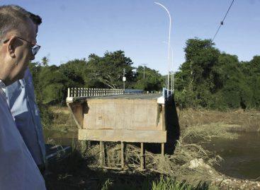 Governo libera ponte de Riachuelo e restabelece abastecimento de água e anuncia reconstrução das casas