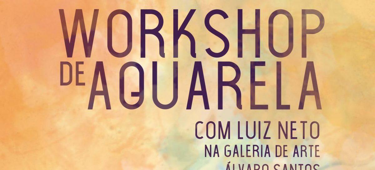 Prefeitura oferta Workshop de Aquarela na Galeria de Arte Álvaro Santos