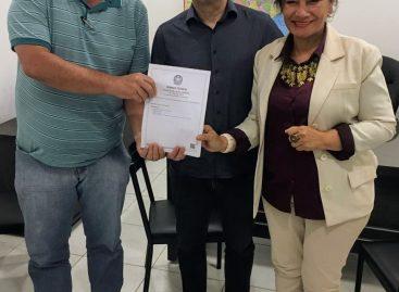 Diretores do STERTS e FITERT visitam o Senador Alessandro Vieira