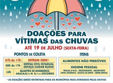 Governo de Sergipe abre mais um ponto de coleta de doações para vítimas das chuvas