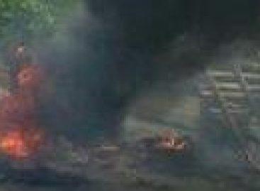 Incêndio atinge residência em Socorro e dois animais morrem queimados