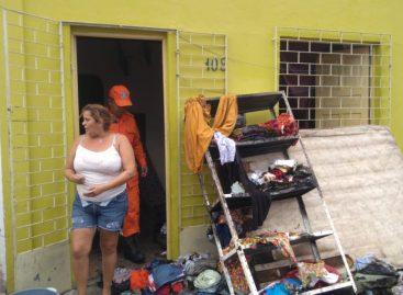 Principio de incêndio destrói parcialmente em Aracaju