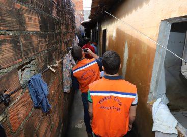Força-tarefa: Defesa Civil realiza vistoria em casas do Largo da Aparecida