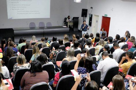 SES reúne os 75 municípios para alinhar estratégias de prevenção ao sarampo
