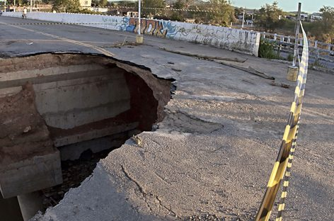 Defesa Civil Estadual e DER alinham ação de recuperação da cabeceira da ponte de Riachuelo