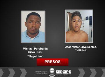 Os suspeitos foram presos na cidade de Ribeirópolis e no Bairro Santos Dumont