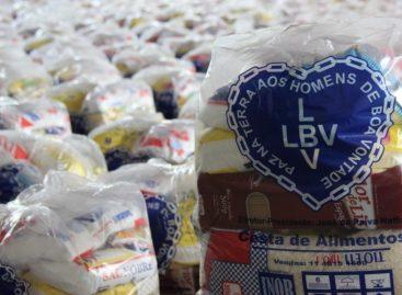 LBV entrega cestas de alimentos as famílias em situação de vulnerabilidade social