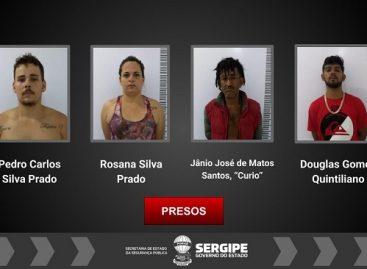 Grupo é preso em flagrante suspeito de tráfico de drogas em Aracaju