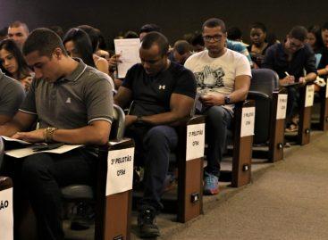 Aprovados nos concursos da PM recebem instruções sobre o Curso de Formação