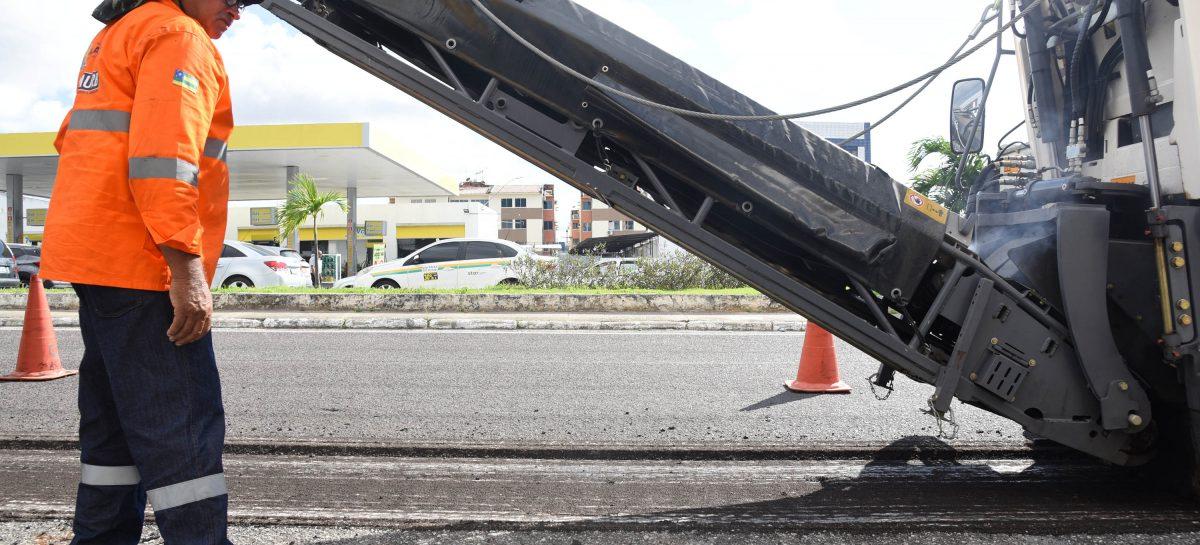 Obras na avenida Saneamento provocam mudanças no trânsito