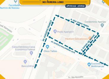 SMTT fará readequação de sentido na rua Rafael de Aguiar, no bairro Pereira Lobo