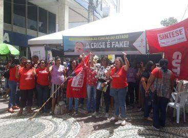 Manifestação do SINTESE e CUT/SE cobra transparência do Governo de Sergipe