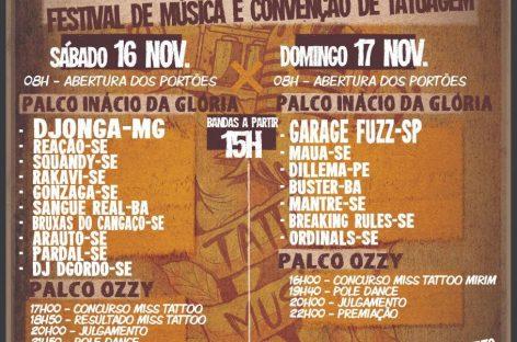 """Festival """"November Tattoo Music"""" será realizado em Aracaju"""