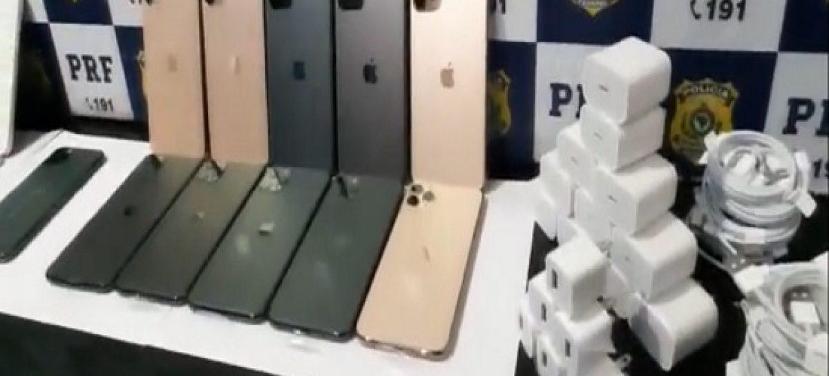 PRF/BA apreende 17 iphones contrabandeados que seriam vendidos em Aracaju