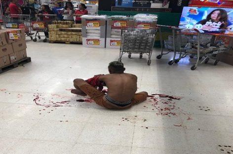 Briga dentro de supermercado termina com um ferido e cinco presos