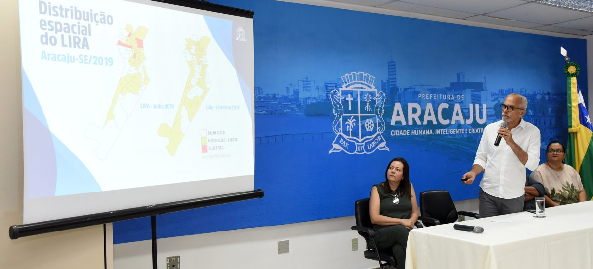 Aracaju registra queda de 46% no índice de infestação do Aedes aegypti