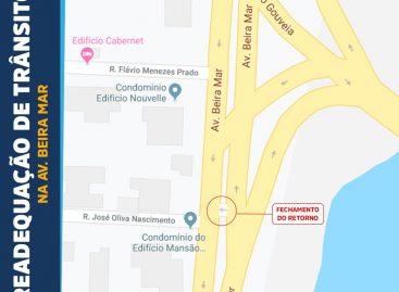 PMA fechará retorno da Beira Mar no trecho da que corta o Garcia