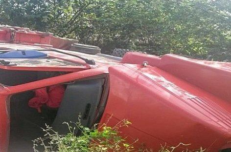 Homem morre após caminhão capotar na SE-230 próximo a Poço Redondo