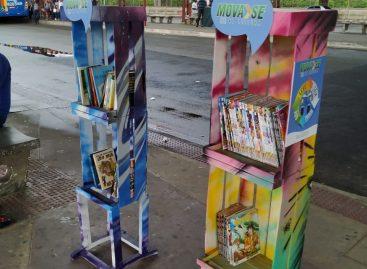 Em menos de 24h, estante do projeto MOVA-SE na LEITURA é roubada