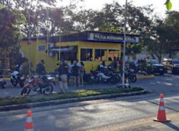 PRF apreende 34 motocicletas irregulares na BR 235