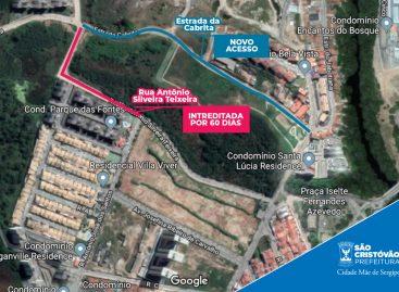 Trânsito no bairro Marcelo Déda será alterado a partir de segunda, dia 07