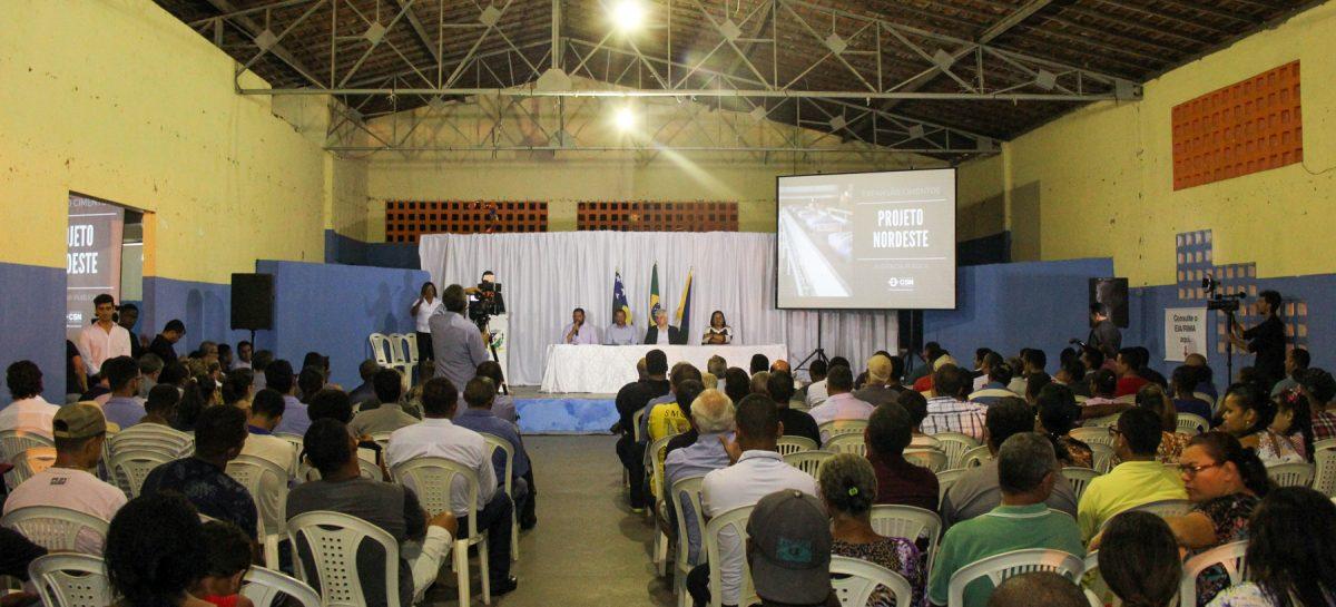 Companhia Siderúrgica realiza audiência pública sobre a implantação da fábrica de cimentos