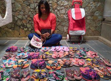 GETAM do 6º BPM prende mulher por furtar 33 pares de chinelo em mercado