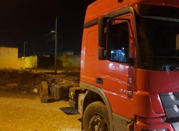Polícia Civil recupera caminhão roubado em Itabaiana