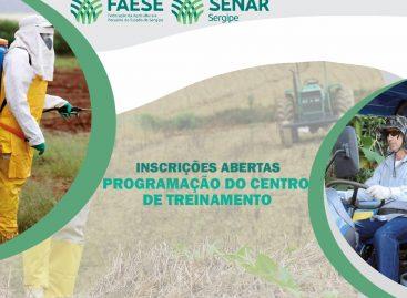 Inscrições abertas para os cursos no Centro de Treinamento do Sistema Faese/Senar