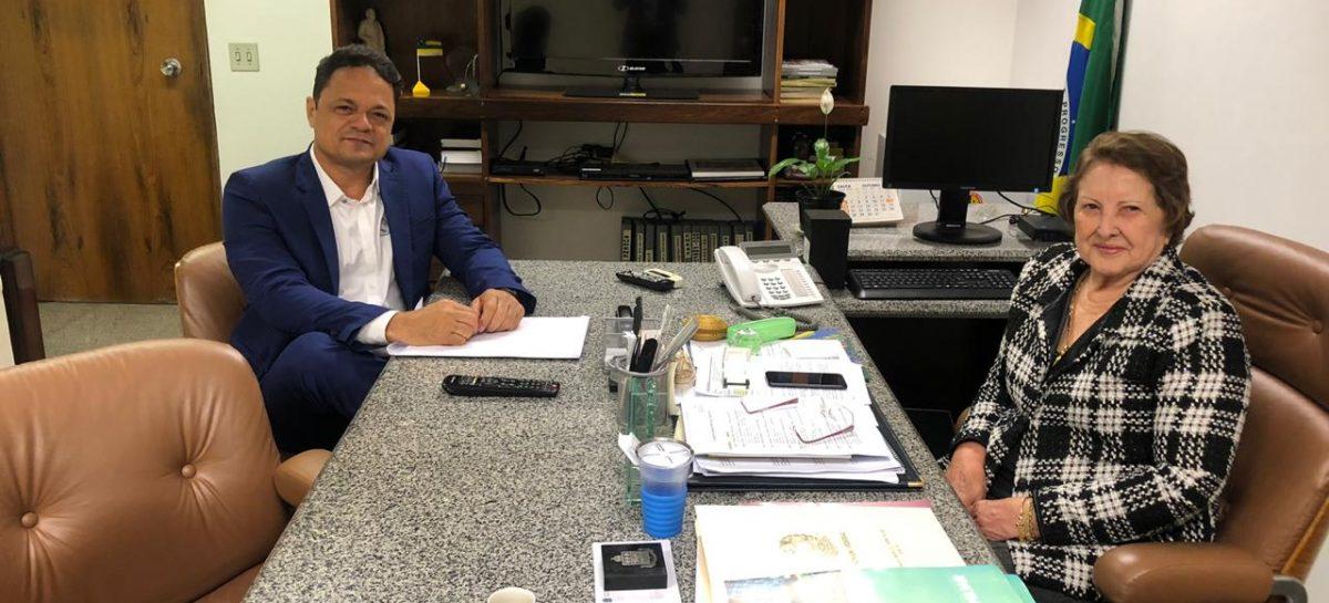 Samuel visita senadora Maria do Carmo e pede apoio a sua pré-candidatura