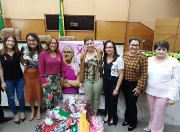 """Bancada feminina lança a Campanha """"Doe Lenços"""" na Alese"""