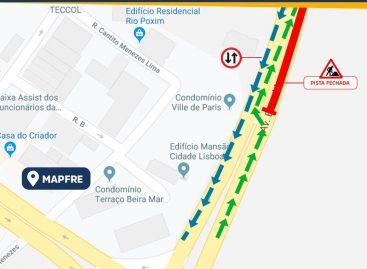 Prefeitura monta binário na Beira Mar a partir desta sexta-feira, 25