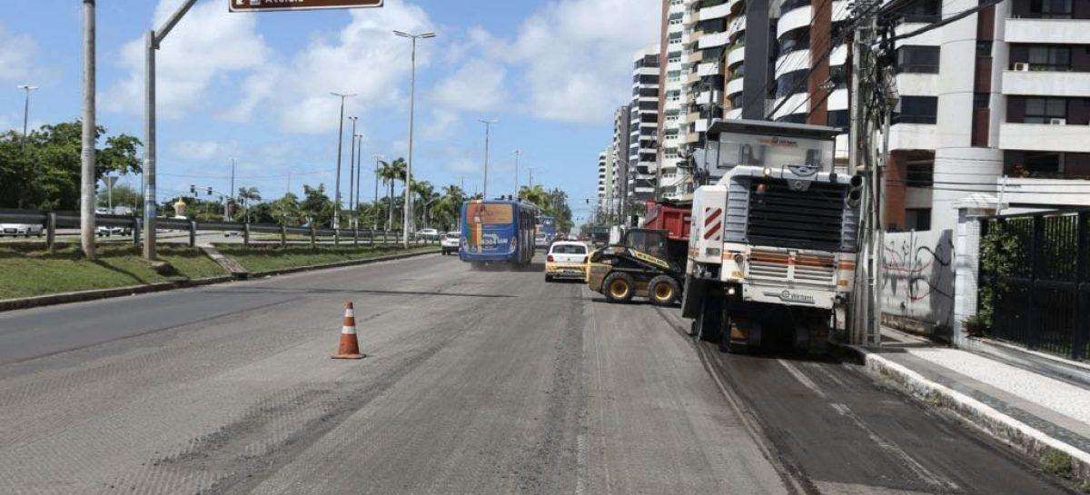 Trânsito na avenida Beira Mar fica em meia no sentido Norte na segunda, 14