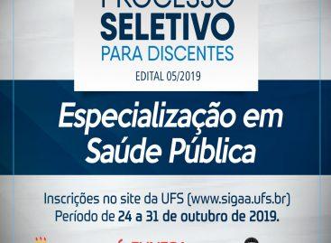 Funesa abre Processo Seletivo de discentes para Especialização em Saúde Pública