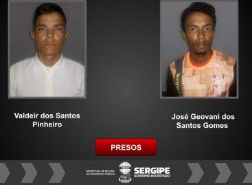 PC prende homens suspeitos de roubar na zona rural de Brejo Grande