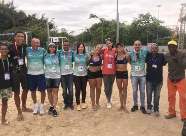 Sergipe e Rio de Janeiro decidem ouro no vôlei de praia dos JEJs em Blumenau