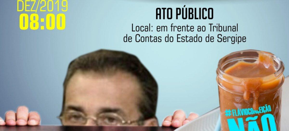 Agenda de luta por direitos e contra a volta de Flávio Conceição ao TCE