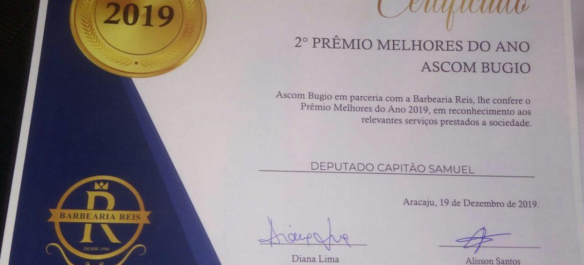 """Deputado Samuel Barreto é homenageado com o prêmio de """"Melhores do Ano"""""""