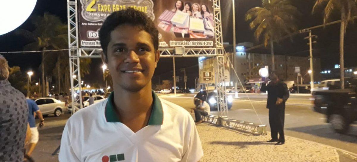 Como representante estudantil, Nélio Miguel é eleito membro do Conselho Superior do IFS