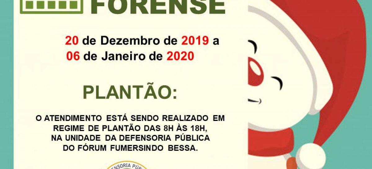 Defensoria Pública atende em regime de plantão durante recesso forense