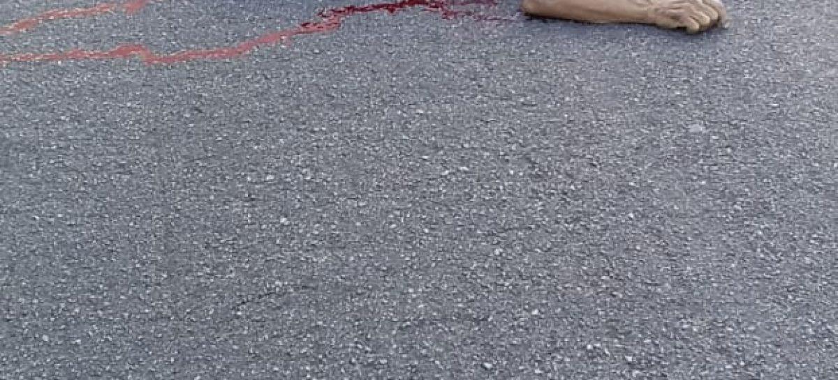 Veículo de passeio invade canteiro central, atropela e mata idoso na Osvaldo Aranha