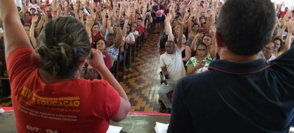 Em greve, professores divulgam carta aos colegas