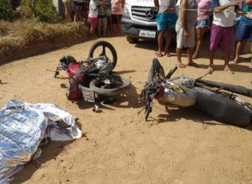 Colisão entre duas motos deixa um morto e três feridos em Macambira