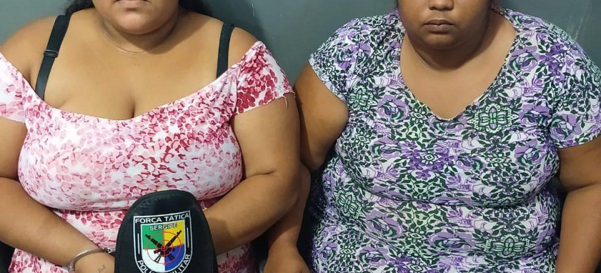 Tático prende duas mulheres por tráfico de drogas no Santa Maria